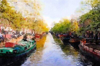 Quadro Amsterdam Canal