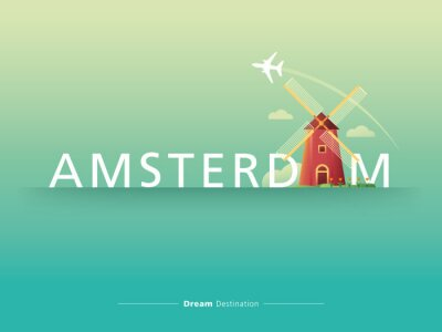 Quadro Amsterdam tipografia