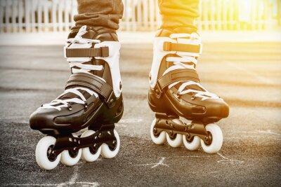 Quadro andar de patins para patinação