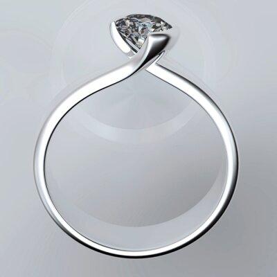 Quadro Anel de casamento com diamantes