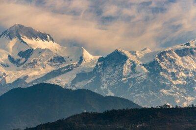 Quadro Annapurna, gama, amanhecer