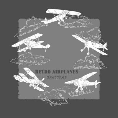Quadro Antecedentes com aviões