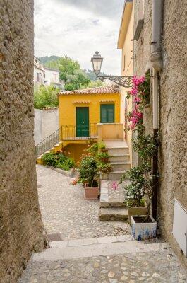 Quadro Antiga rua na cidade velha de uma aldeia do sul da Itália