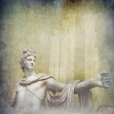 Quadro Antigas, hellenistic, esculturas, grunge, fundo