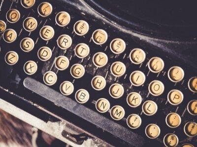 Quadro Antigo, máquina de escrever, vindima, objeto, fundo