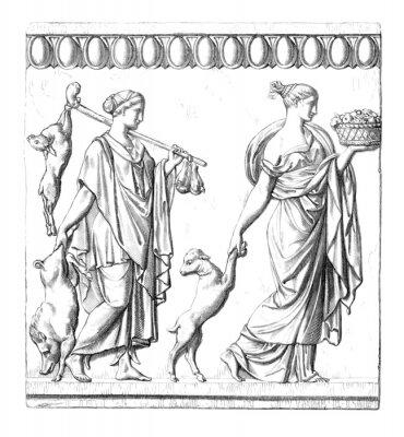 Quadro Antiguidade: Mulheres romanas