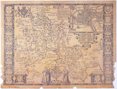 Quadro Antique Oxfordshire map
