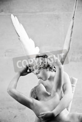 Quadro Antonio Canova's statue Psyche Revived by Cupid's Kiss, first commissioned in 1787, exemplifies the Neoclassical devotion to love and emotion
