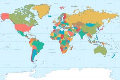 Quadro Apartamento Colors Mapa do Mundo