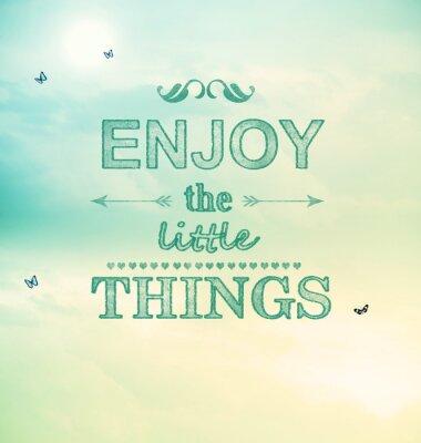Quadro Aproveite o texto Little Things com pequenas borboletas