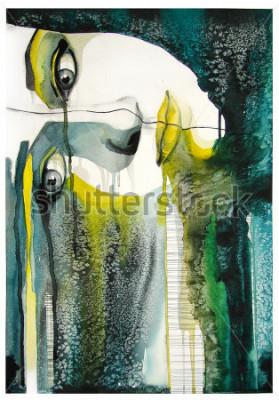 Quadro Aquarela Retrato de Menina Bonita | artesanal | auto fabricado | pintura