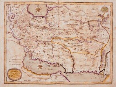 Quadro Árabe velho mapa