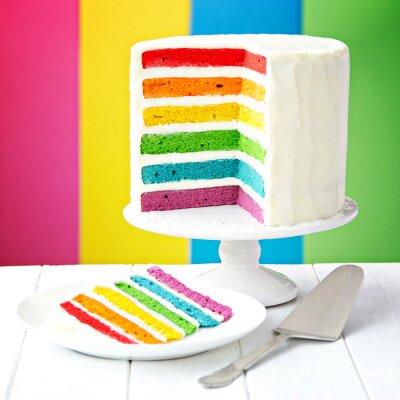 Quadro Arco-íris camada de bolo