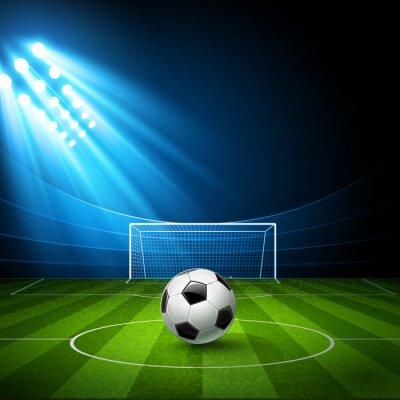 Quadro Arena de futebol com uma bola de futebol. Vetor