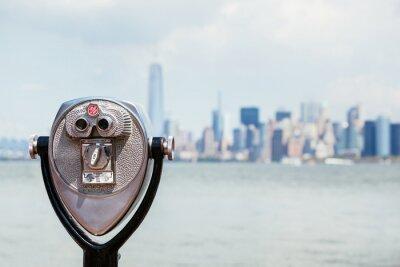 Quadro Arquitectura da cidade de Nova York com Binocular
