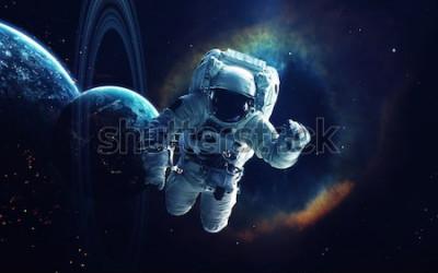Quadro Arte cósmica, papel de parede de ficção científica. Beleza do espaço profundo. Bilhões de galáxias no universo. Elementos desta imagem fornecidos pela NASA