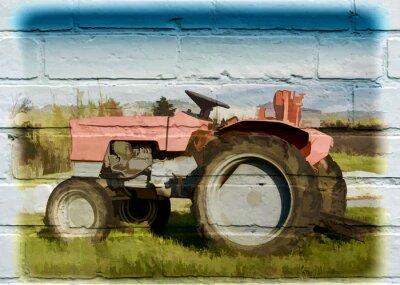 Quadro Arte de rua, tracteur agricole