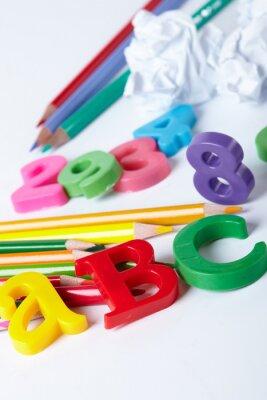 Quadro As letras do alfabeto de plástico