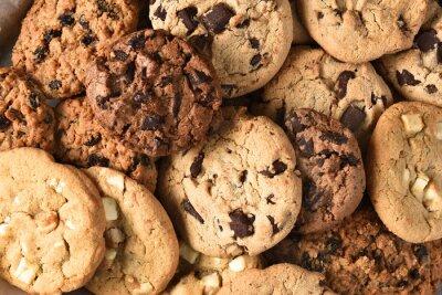 Quadro Assorted, biscoito, closeup