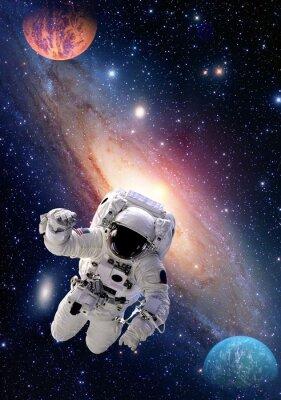 Quadro Astronauta, espaço, espaço, pessoas, galáxia, planeta, sistema solar, universo. Elementos desta imagem fornecida pela NASA.