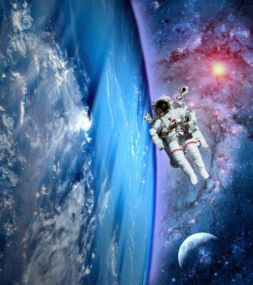 Quadro Astronauta Spaceman Terra Lua