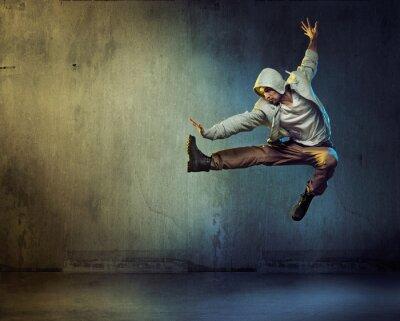 Quadro Atlético, dançarino, jumping, pose
