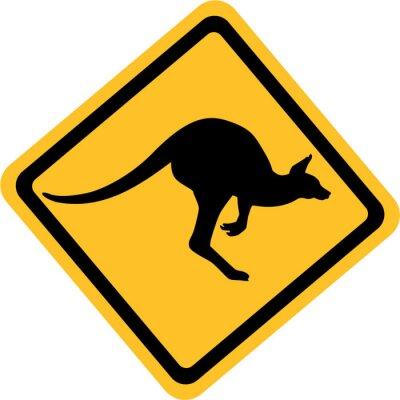 Quadro Austrália sinal canguru