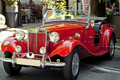 Quadro auto d'epoca em esposizione