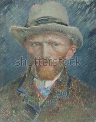 Quadro Auto-retrato, por Vincent van Gogh, 1887, pintura a óleo holandesa. Ele se mostra aqui como um parisiense elegantemente vestido
