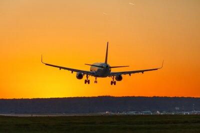 Quadro Avião terra aeroporto sol parado férias férias viagens viagens