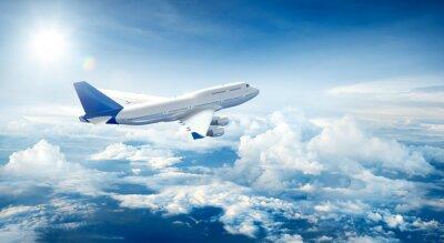 Quadro Avião, voando, acima, Nuvens