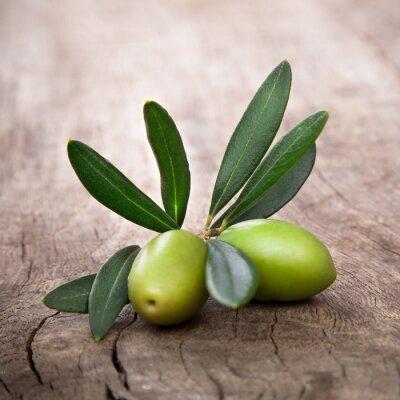 Quadro azeitonas com folhas