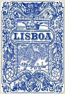 Quadro Azulejos tradicionais Azulejos Lisboa, Portugal