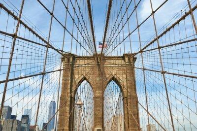 Quadro Baixa vista o horizonte de Manhattan do Brooklyn