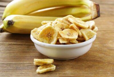 Quadro Banana, lascas, secado, fruta, madeira, tabela