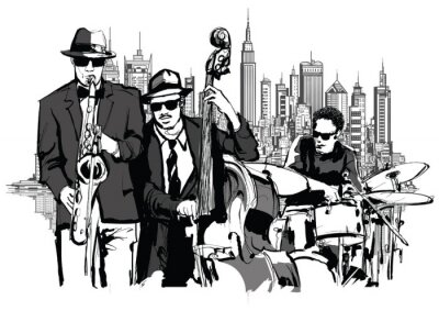 Quadro Banda de Jazz em Nova York