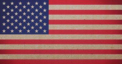 Quadro bandeira americana