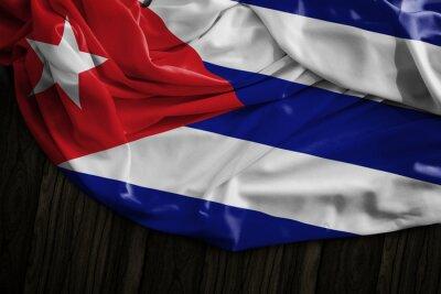 Quadro Bandeira cubana, madeira, tabela