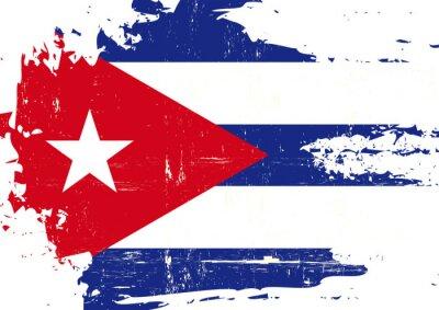 Quadro Bandeira cubana riscado