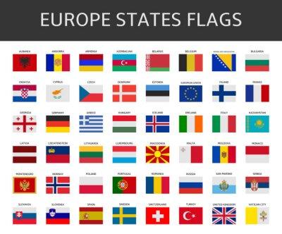 Quadro Bandeira da Europa afirma set vector