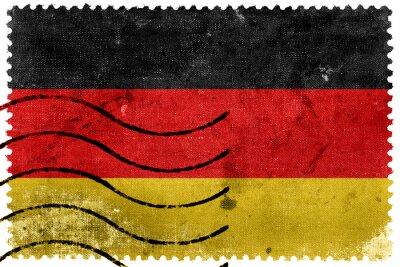 Quadro Bandeira de Alemanha - selo postal velho