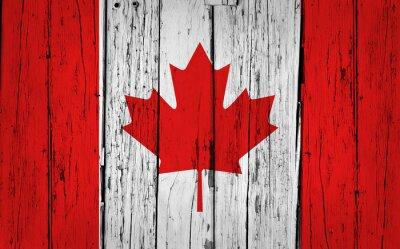 Quadro Bandeira de Canadá Grunge
