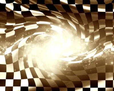 Quadro Bandeira de corrida de xadrez