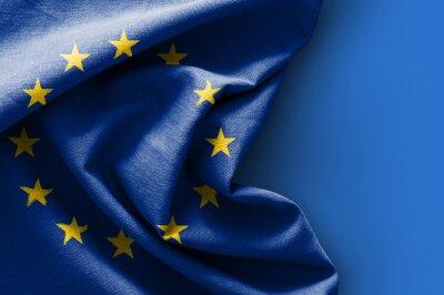 Quadro Bandeira, Europa, azul, fundo
