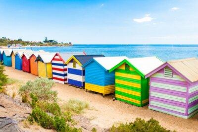 Quadro Banhando caixas em Brighton Beach, Austrália