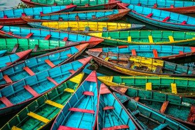 Quadro Barcos coloridos