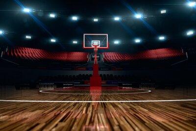 Quadro Basketball court. Sport arena.