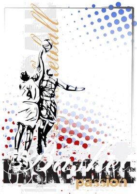 Quadro basquete cartaz do vetor