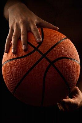 Quadro Basquetebol, bola, macho, mãos