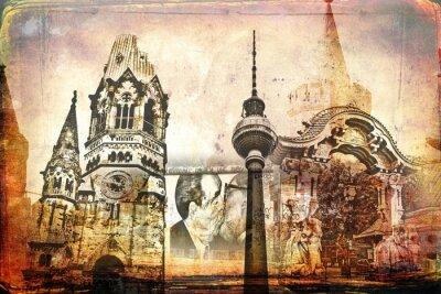 Quadro Berlim art design ilustração